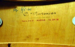 Ajax SN til rep. hos C. Mortensen i 1960.
