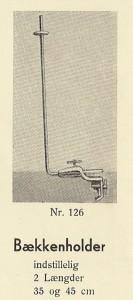 Calo bækkenholder katalog 1946
