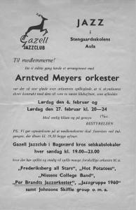gazell jazzklub poster 1960